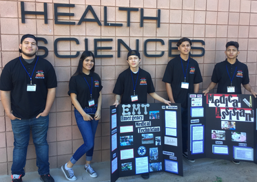 Picture of the Alternative Education students from the Medical Terminology class at HOSA competition