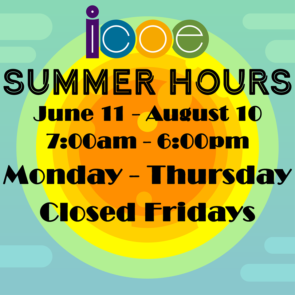 Picture of Summer Hours at ICOE