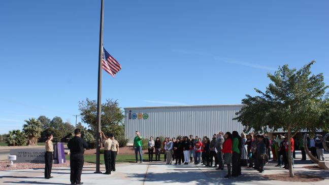 Flag Half-Staff Ceremony Assembly