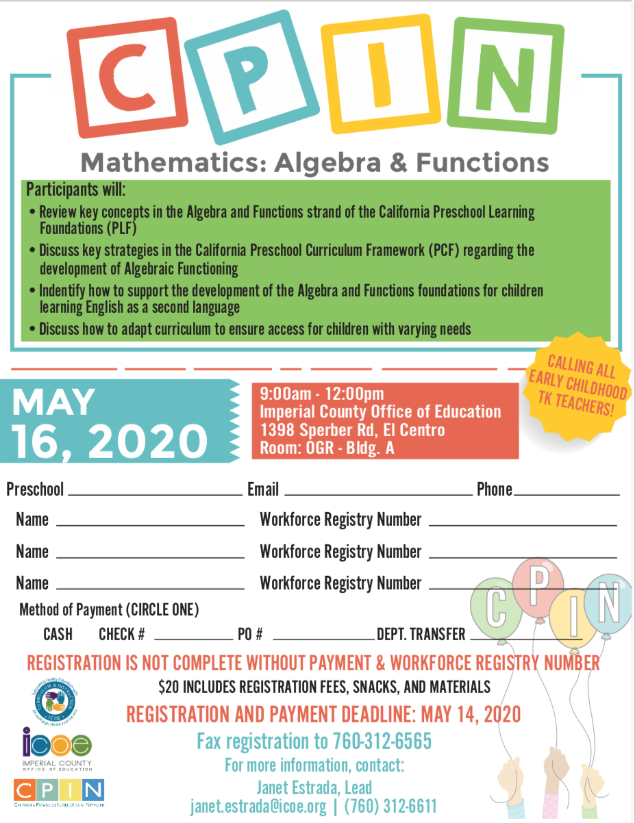 Mathematics: Algebra& Function Flyer