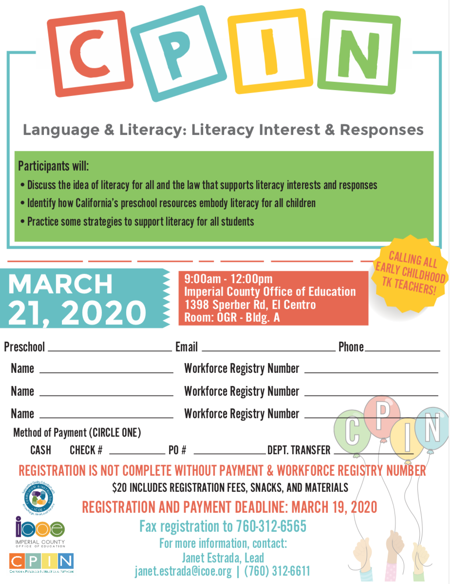 Language & Literacy: Literacy Interest & Responses