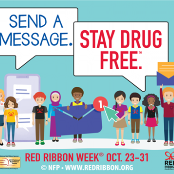 send a message, stay drug free